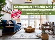 Residential interior designers and decorators in bangalore